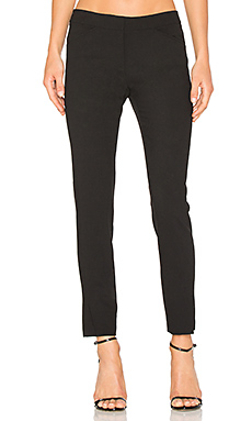 Straight Ankle Pant in Black