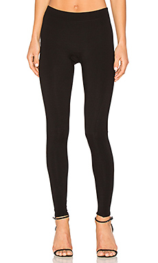 Slim Fit Ribbed Leggings en Noir