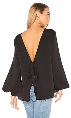 Deep V Back Top en Noir