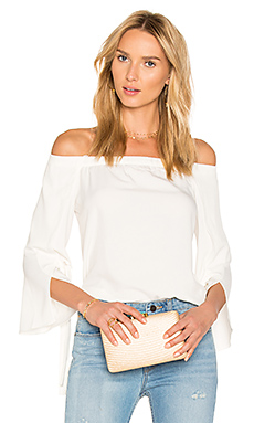 Off Shoulder Slit Sleeve Top en Craie
