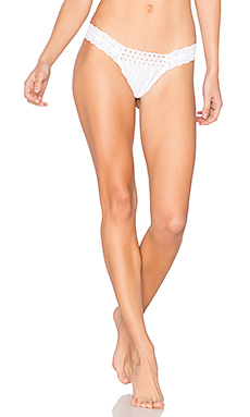 Eyelet Diamond Low Rise Thong en Blanc