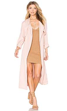 Long Trench Coat en Cheeky Pink