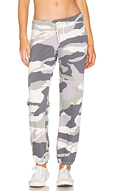 Oversized Camo Sweatpant en rose pâle