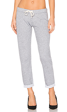 Slim Sweatpant en Granite & Dark Heather