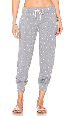 Sporty Lightning Sweatpant en Gris Foncé Chiné