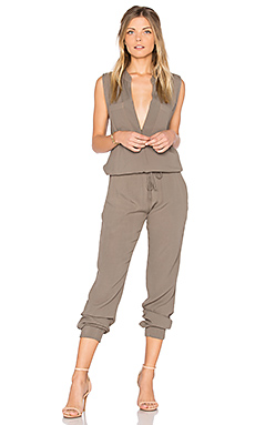 Sleeveless Jumpsuit in Ash Green
