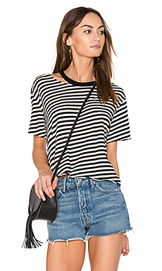 Slash Stripe Athletic Tee – 素色