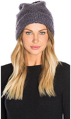 Cozy Cuff Slouchy Beanie in Grey