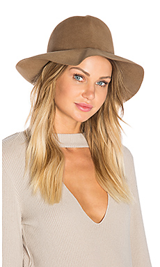 Crushable Luxe Felt Hat en Taupe