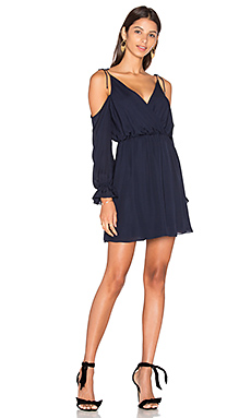 Cold Shoulder Mini Dress in Midnight
