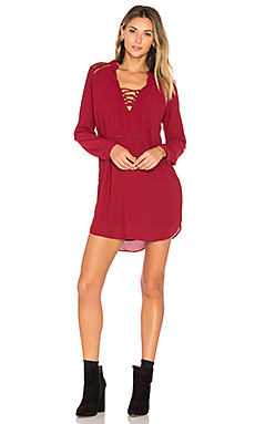 Claudio Dress en Bordeaux