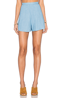 Eve Short en Chambray