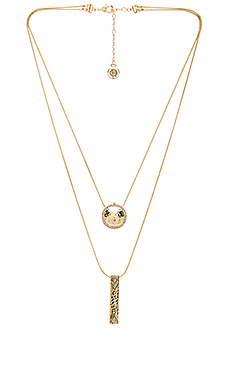 Scutum Double Pendant Necklace in Gold