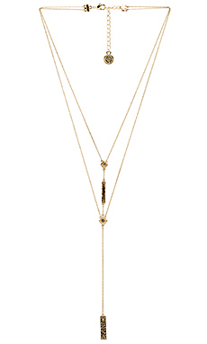 The Lyra Double Y Necklace in Gold