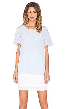 丝绸罩层T恤裙