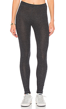 Brushed Hacci Legging en Anthracite Chiné
