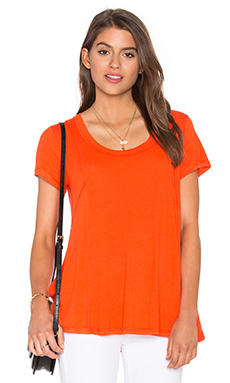 Paneled Swing Top en Orange Sanguine