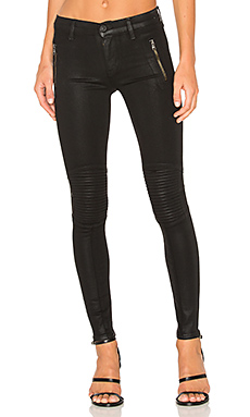 Stark Moto Pant in Noir Coated