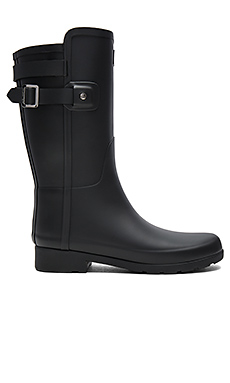 Original Refined Back Strap Short Boot in Black