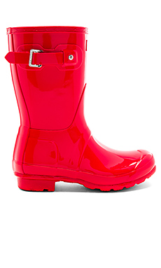 Original Short Gloss Boot in Bright Coral