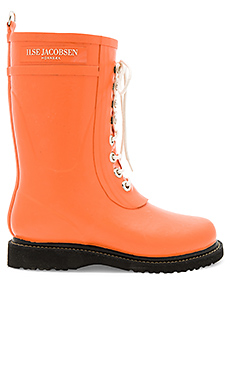 Mid Calf Rubber Boot en Flamingo