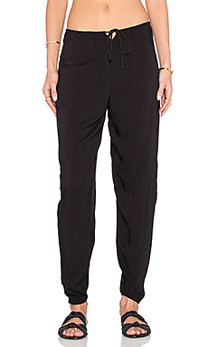 Medi Drawstring Pant in Black