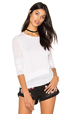 Layered Crew Neck Sweater en Blanc