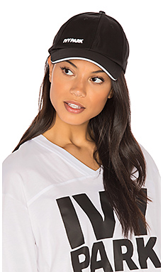 Logo Baseball Cap in Black with White Logo