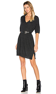 Cashmere Polo Dress en Anthracite