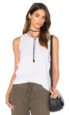 Wrap Back Tunic Top in White