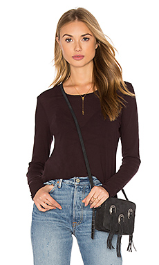 Long Sleeve Crew Neck Tee in Fig