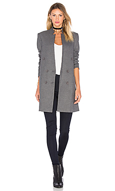Patch Pocket Straight Blazer in Brushed Charcoal