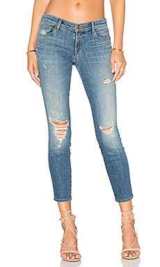 JEAN SKINNY CROPPED TAILLE BASSE