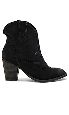 Upland Booties in Black Distressed Suede