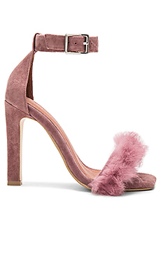 Obus FT Heels with Rabbit Fur – Dusty Rose Suede Combo
