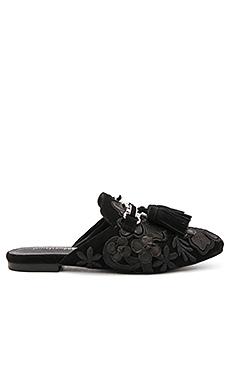 Ravis TSFL Slides en Black Suede Floral