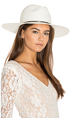 Annie Wide Brimmed Panama Hat in Bleach