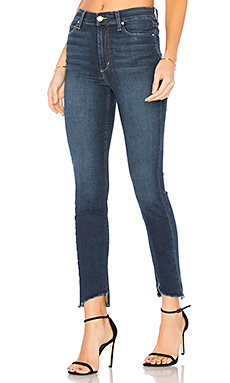 The Charlie High Rise Ankle Skinny en Bleu foncé