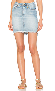 High Low Denim Skirt en Bleu clair