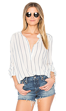 Sophie Blouse in Blue & White Stripe