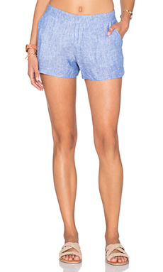 Merci Short em Washed Denim