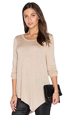 Tambrel Metallic Sweater en Dusty Pink Sand & Gold