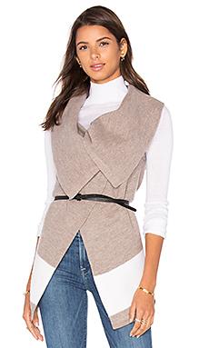Ligere Wool Vest in Heather Mushroom & Porcelain
