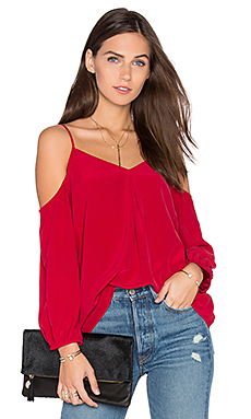 Eclipse Cold Shoulder Blouse en Ruby