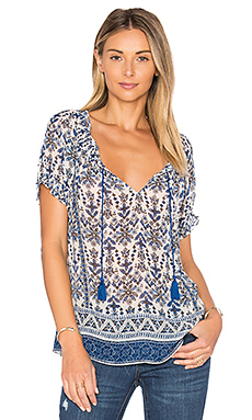 Masha K Top en Harbor Blue