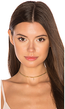 Curb Cross Choker en Or