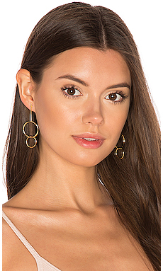 Double Drop Hoop Earrings en Or