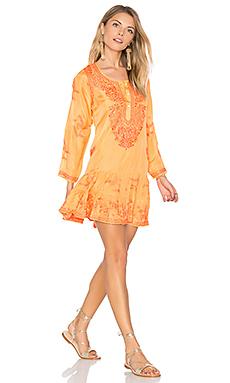 蚕丝长袖海滩风连衣裙