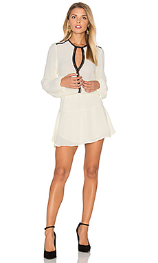 Titti Solid Mini Dress in Ivory