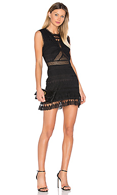 Joy Lace Mini Dress in Black